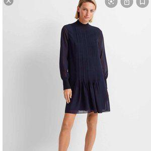 Club Monaco Pintucked Chiffon Dress